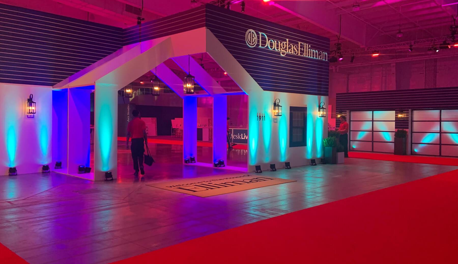 Trade show space with Douglas Elliman build