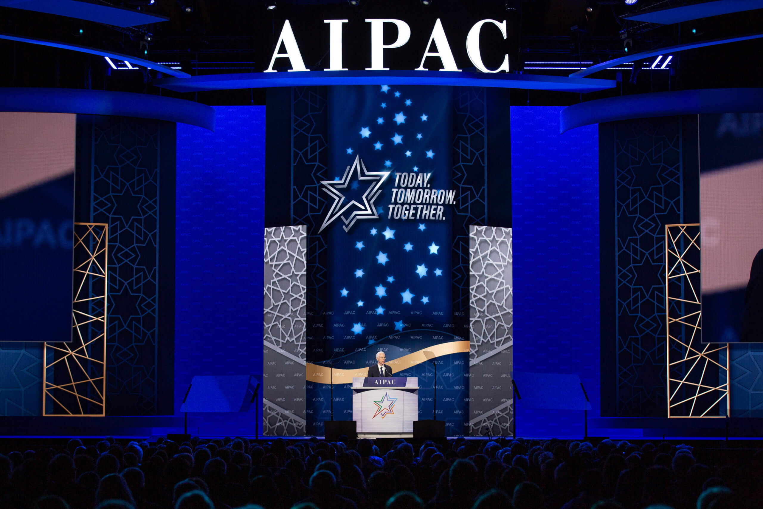 Stage at AIPAC Policy Conferece