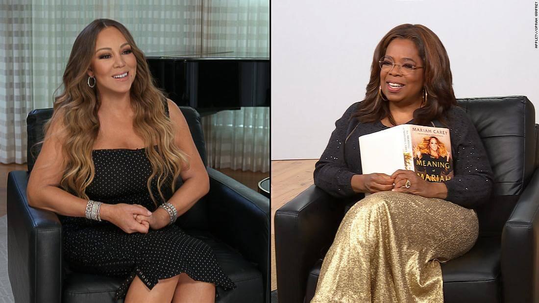 Oprah and Mariah Carey talking