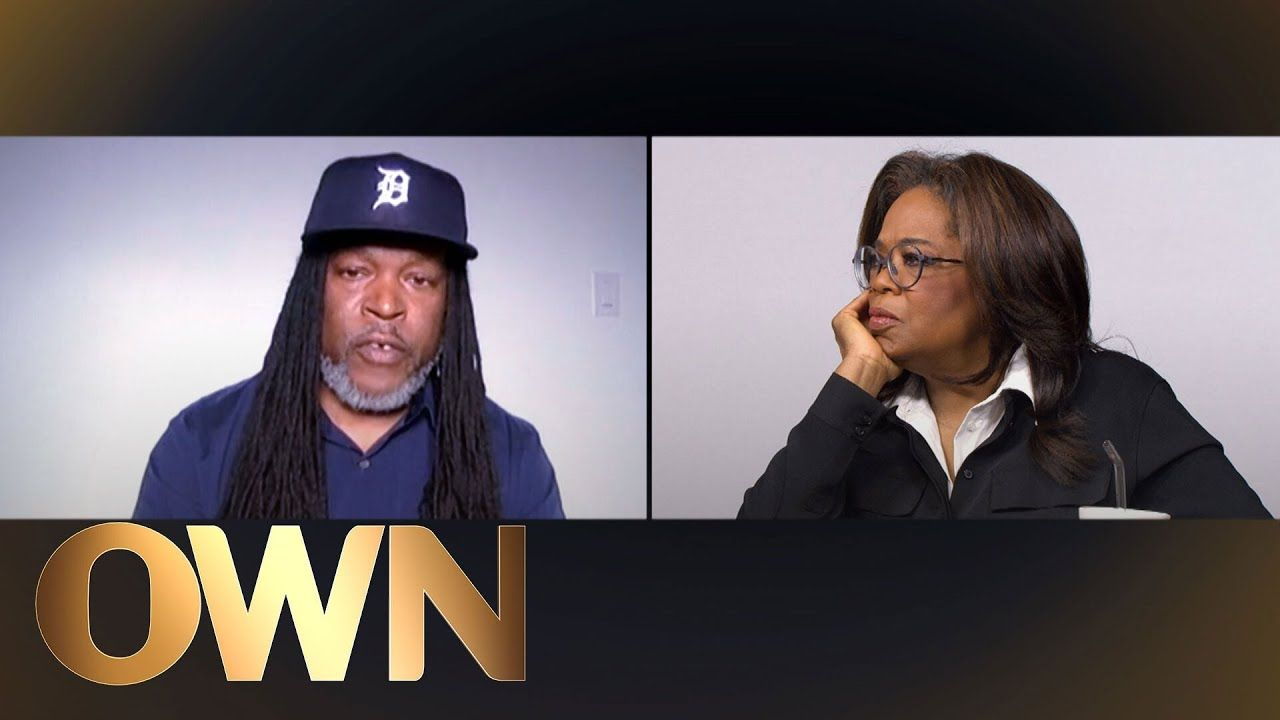 Oprah with guest virtually together