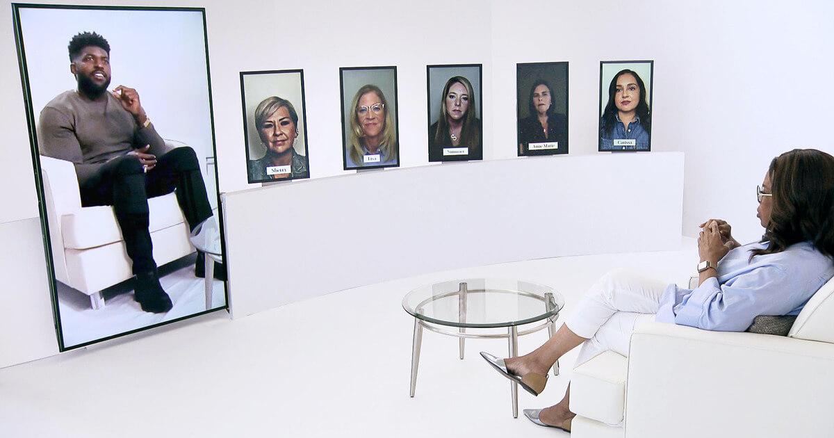 Virtual production set up for Oprah